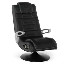 X ROCKER Pedestal VIDEO GAMING CHAIR, Wireless AUDIO GAME CHAIR, Black
