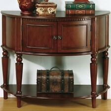 Coaster 950059 - Accent Entry Table with Curved Front & Inlay Shelf - Brown
