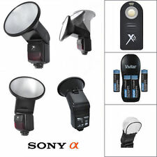 PRO SLAVE FLASH + WIRELESS IR REMOTE FOR SONY ALPHA A33 A35 A37 A55 A57 A58 A65