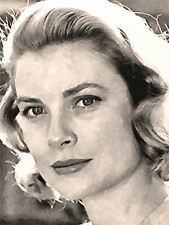 ART PRINT POSTER dipinto Ritratto Movie Cinema attrice GRACE KELLY nofl0097