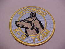 WYOMING MICHIGAN K-9  POLICE PATCH **** FREE SHIP IN USA ****  3 1/2 X 2 3/4 IN.