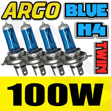 H4 NISSAN NOTE XENON HEADLIGHT BLUE BULBS 100W 12V 472 P43T 4 X SPARE KIT ICE