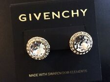 $38 Givenchy Clear Crystal Pave Halo Earrings #z1 (491)