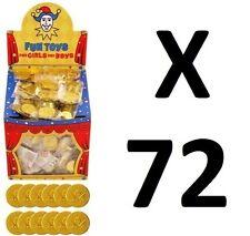 72 Plastique Pièces D'Or Pirate Trésor Butin Goody sac de fête jouets charges pinnata