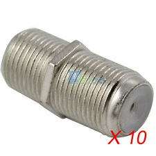10pcs F Type Female to Female RG6 F81 Coaxial Barrel Coax Coupler Adapter Cable