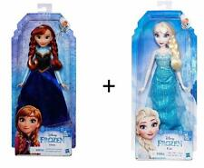 "lot of 2 DISNEY FROZEN ELSA and ANNA DOLLS 12"" Figures"