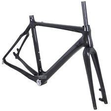 58cm Cyclocross Bike Carbon Frame Fork Di2 Disc Brake Internal 3k Glossy BSA BB