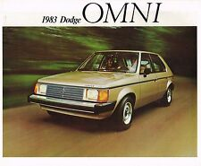 1983 DODGE {Canada} OMNI Brochure / Flyer: Custom, Canadian.......NOS