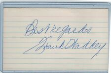 FRANK WADDEY INDEX CARD SIGNED 1931 ST LOUIS BROWNS PSA/DNA CERTIFIED 1905-1990