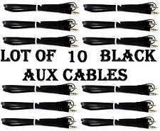 LOT OF 10  BLACK AUX CABLES AUXILIARY CORD Male Stereo Audio Cable iPod MP3 CAR