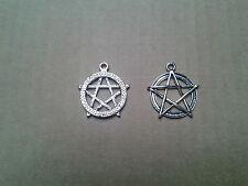 gr. Pentagramm,Esoterik,Magie,Gothik,Symbol der Elemente,Anhänger,Amulett,NEU
