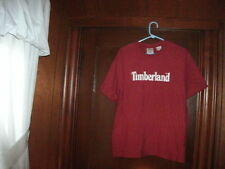 Timberland t-shirt short sleeve color red with white Timberland size MEDIUM NEW