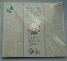 Royal Mint Beatrix Potter 150th Anniversary 50p Fifty Pence BU 2016 Coin Pack.