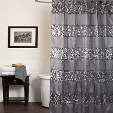 "Popular Bath Sinatra Silver Collection - 70"" x 72"" Bathroom Shower Curtain"