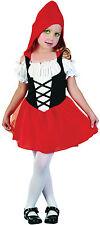 Caperucita Roja Vestido del niño Cuento De Hadas Libro Semana Traje Traje New Age 2-3