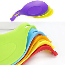 Portable Silicone Heat Resistant Cooking Kitchen Utensil Spoon Holder Gadget Kit