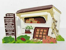 Shelia's 1995 AMISH ROADSIDE STAND Wood Ledge Shelf Sitter Display #2