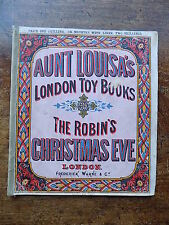 1870 Christmas Aunt Louisa Toy Book Old Antique Childrens Kronheim Chromo Prints