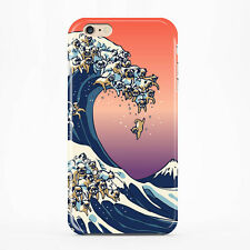 The Great Wave of Pug For Iphone 6s Case Iphone 6 Case Hard Full Wrap Dog Case