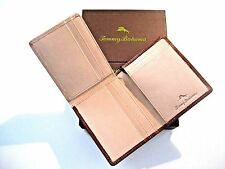 Tommy Bahama Mens Mount Sage L-Fold Leather Wallet ID Holder Brown NIB Free Ship