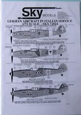 Skymodels 1/72 72024 Alemán avión en italiano servicio DECAL set