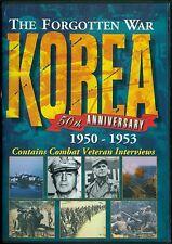 THE FORGOTTEN WAR KOREA 50TH ANNIVERSARY DVD 1950 to 1953 + world events BONUS