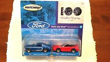 2002 MATCHBOX 100 YEARS FORD THEN NOW SERIES (1)  2-DIFF.MUSTANGS