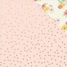 Simple Stories Posh Foiled Double-Sided Cardstock - 437889