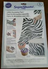 Wilton Sugar Sheets Edible Paper Zebra print for Decorating Baked goods