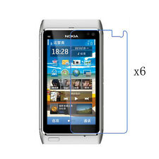 6x Clear LCD Front Screen Protective Protector Skin Film Shield for Nokia N8