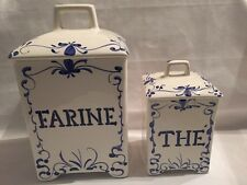 Jay Willfred Andrea By Sadek French Canisters Portugal Farine The Blue White