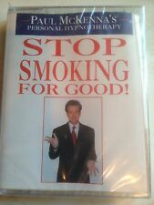 PAUL MCKENNA HYPNOTHERAPY STOP SMOKING FOR GOOD AUDIO CASSETTE EDUCATIONAL NEW