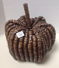 POTTERY BARN WOVEN SEAGRASS BROWN PUMPKIN - NEW WITH TAG