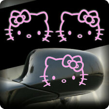 2pcs Pink Hello Kitty Side Door Wing Mirror Car Sticker Decal 01001PK