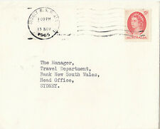 Stamp Australia 5d red QE2 on cover facing machine type 1a postmark in Sydney
