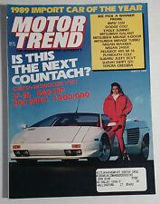 MOTOR TREND CAR MAGAZINE 1989 MARCH LAMBORGHINI COUNTACH DIABLO