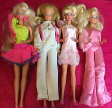 MIXED LOT OF 4 PREVIOUSLY PLAYED WITH BARBIE DOLLS FROM 70'S & 80'S LOT D1