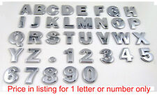 Chrome Letters Auto Emblems Number badges Car Bike 3D decal 27mm Adhesive