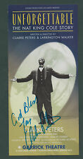 SIGNED Clarke Peters. Nat King Cole Story.  Garrick Theatre zb.67