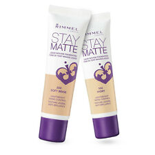RIMMEL LONDON STAY MATTE LIQUID MOUSSE FOUNDATION NO 400 natural beige NEW 30ML
