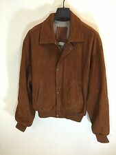 Golden Bear Brown Suede Bomber Made In Cali USA Size 40