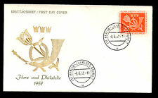 (Ref-4699) Germany 1957 Flora & Philately  First Day Cover SG.1180