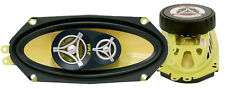 Pair Pyle PLG41.3 4'' x 10'' 300 Watt Three-Way Speakers
