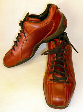 Piloti Oxblood Brownish Red Leather Racing Shoes Men's Sz 8