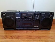 Vintage Sony CFD-440 CD/Radio/Cassette Boombox Mega Bass-Reflex 2 Way Speaker