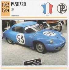 1962-1964 PANHARD CD Racing Classic Car Photo/Info Maxi Card