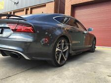 CARBON FIBER ARS STYLE REAR BUMPER EXTENSIONS ADDON FOR AUDI RS7