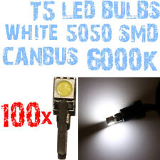 N° 100 Ampoules LED T5 Blanc 6000K SMD 5050 Phares Angel Eyes DEPO FK 12v 1A3A 1
