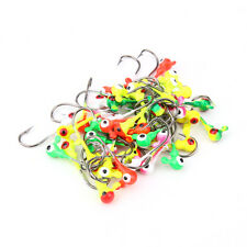 500pcs/lot Fish Lead Head Round Jig Hooks Fishing Lures Bait Tackle Hook Tools