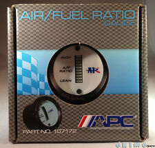 "UNIVERSAL APC 52MM 2"" AF A/F AIR / FUEL RATIO PERFORMANCE WHITE EL GAUGE METER"